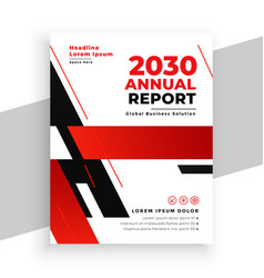 red annual report professional brochure design vector image