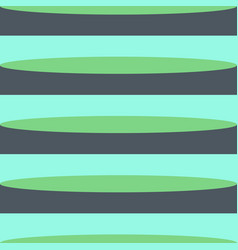 retro green shades horizontal stripes vector image
