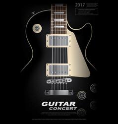 Rock concert poster background template vector