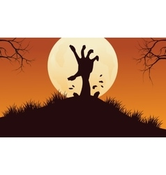 Scary hand zombie halloween backgrounds vector image