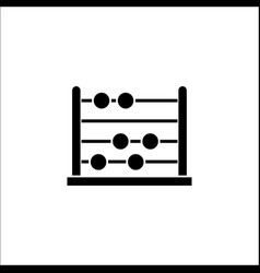 School abacus solid icon education and school vector