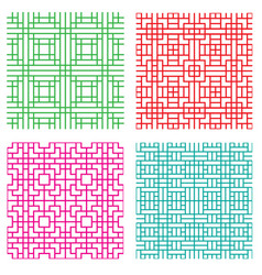 Seamless geometric line pattern in japanese style vector