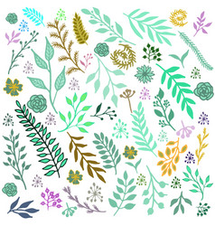 seamless vintage winter pattern vector image