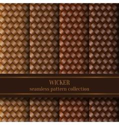 Seamless Wicker Pattern Set vector