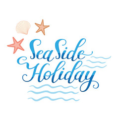 Seaside holidays logo vector