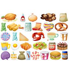 Set different foods vector