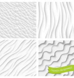 Set of four backgrounds seamless vector