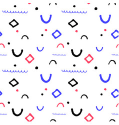 simple geometric seamless pattern in vector image
