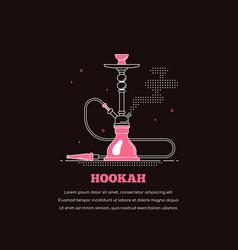 smoking shisha concept banner on dark background vector image