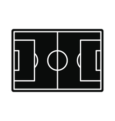 Soccer field icon simple style vector image