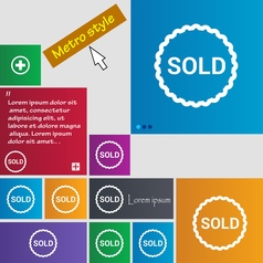 Sold icon sign buttons Modern interface website vector