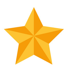 star with relief and shadows icon image vector image