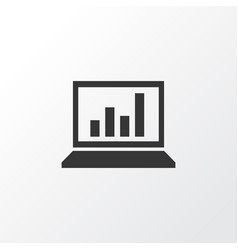 Statistics icon symbol premium quality isolated vector