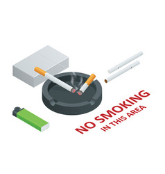 stop smoking cigarettes concept no smoking vector image