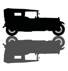 Vintage black convertible vector