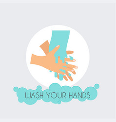 wash your hands flat design modern concept vector image
