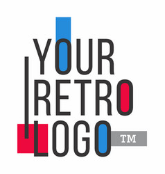 Your retro logo vector