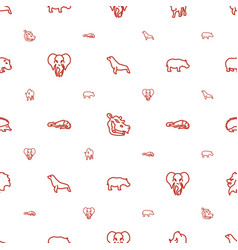 Zoo icons pattern seamless white background vector