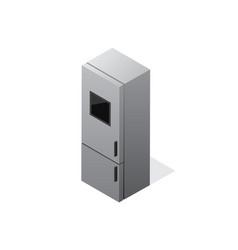 isometric gradient fridge icon vector image vector image