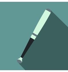 Metallic baseball bat flat icon vector image vector image