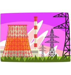 traditional energy generation power station vector image