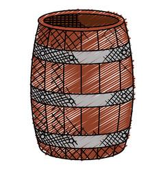 Wine barrel isolated icon vector
