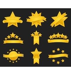 award ribbon with gold star vector image vector image