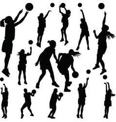 basketball woman player vector image