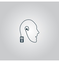 Mobile music technology human connection vector image