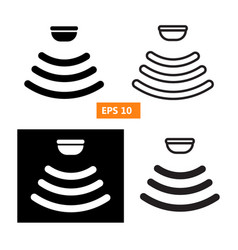 set of sensor waves signal icon vector image vector image