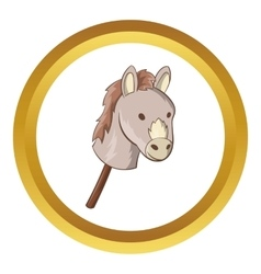 Toy donkey icon vector image vector image