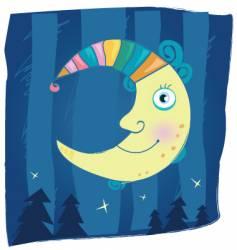 fantasy moon vector image vector image
