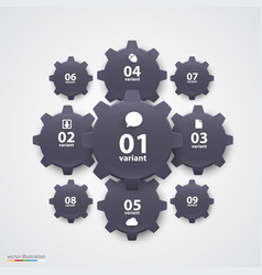 gears infographics vector image