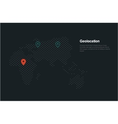 geolocation map vector image vector image