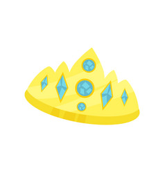 Golden princess crown accessory for a little vector