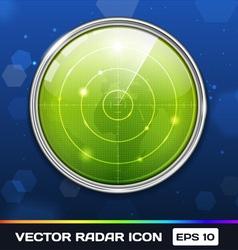 Green Radar Icon vector image