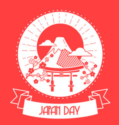 japan day red color vector image vector image
