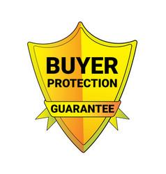 seal buyer protection guarantee shield logo vector image