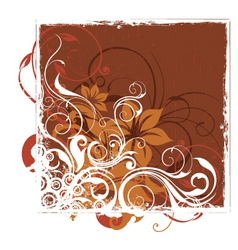 urban floral background vector image vector image