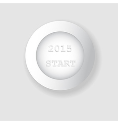 White 2015 and start button background vector image