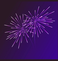 abstract blue fireworks explosion on transparent vector image