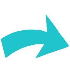 arrow symbol sketch drawing vector image vector image