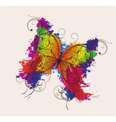 butterfly made of floral vector image