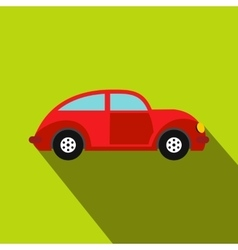 Car vintage car icon flat style vector image vector image