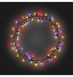 Christmas and New year realistic light garlands vector image vector image
