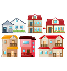different design of houses vector image