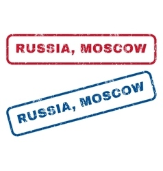 Russia moscow rubber stamps vector
