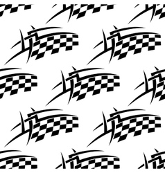 Stylized seamless pattern of a checkered flag vector image vector image