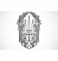 vintage traced woodcut vector image vector image
