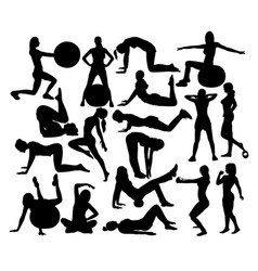womens fitness gym vector image vector image